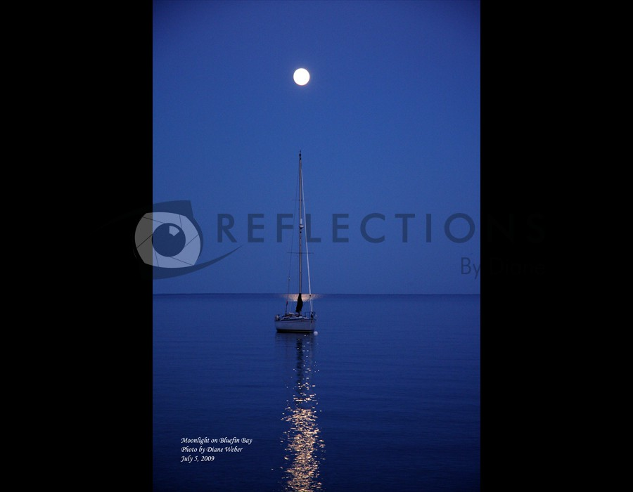 Moonlight on Bluefin Bay, Lake Superior, Tofte, MN