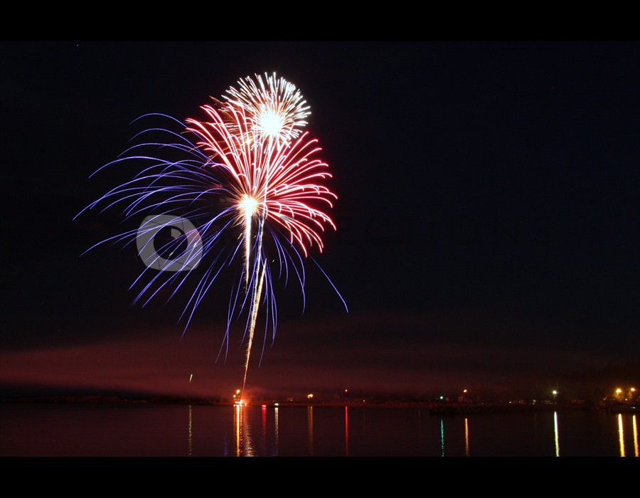 Fireworks on Lake Superior MN