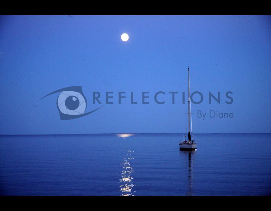 Moonlight on Bluefin Bay, Tofte,  MN