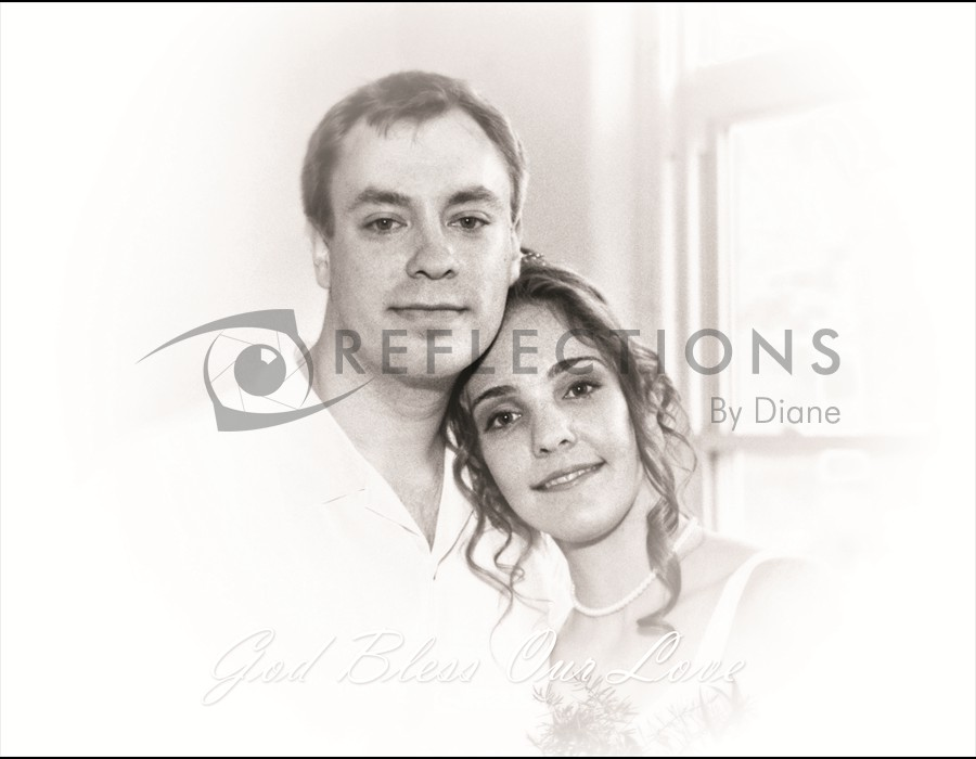 B&W Wedding Portrait